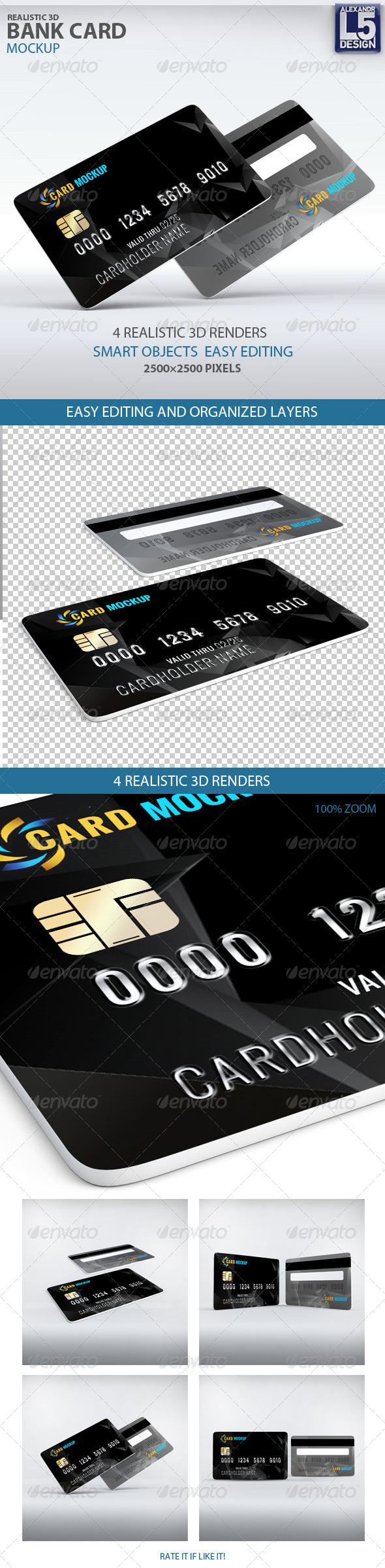 Bank Card Mockup - Miscellaneous Print