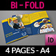 Construction Company Brochure Bi-Fold Template