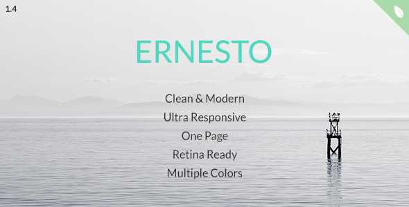 Ernesto - One Page HTML5 Template - Corporate Site Templates