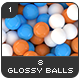 8 Glossy Balls Backgrounds Pack 1 - GraphicRiver Item for Sale