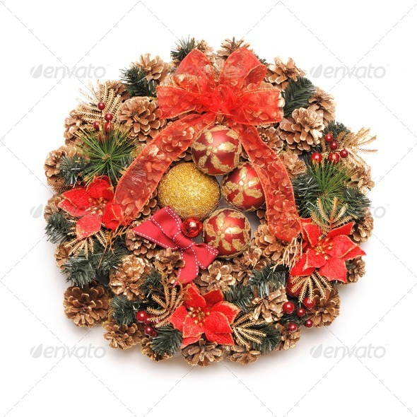 Christmas wreath - Stock Photo - Images