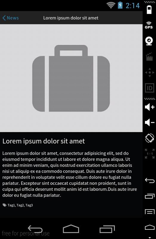 Sensation - PhoneGap / Cordova Full Hybrid App