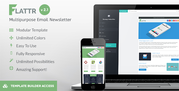 Flattr – Flat Corporation Email Template