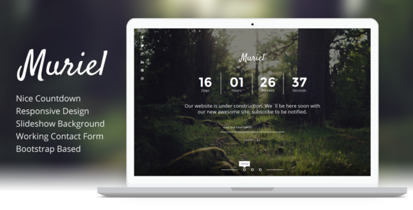 Muriel - Responsive Coming Soon Template - Under Construction Specialty Pages