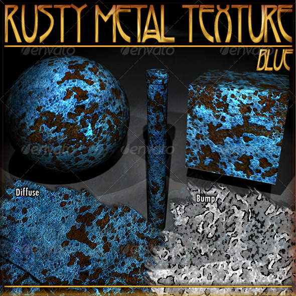 Rusty Metal Texture (Blue) - 3DOcean Item for Sale