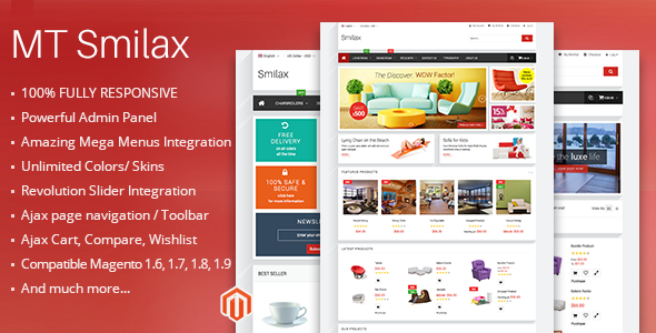 MT Smilax modern responsive magento theme - Magento eCommerce