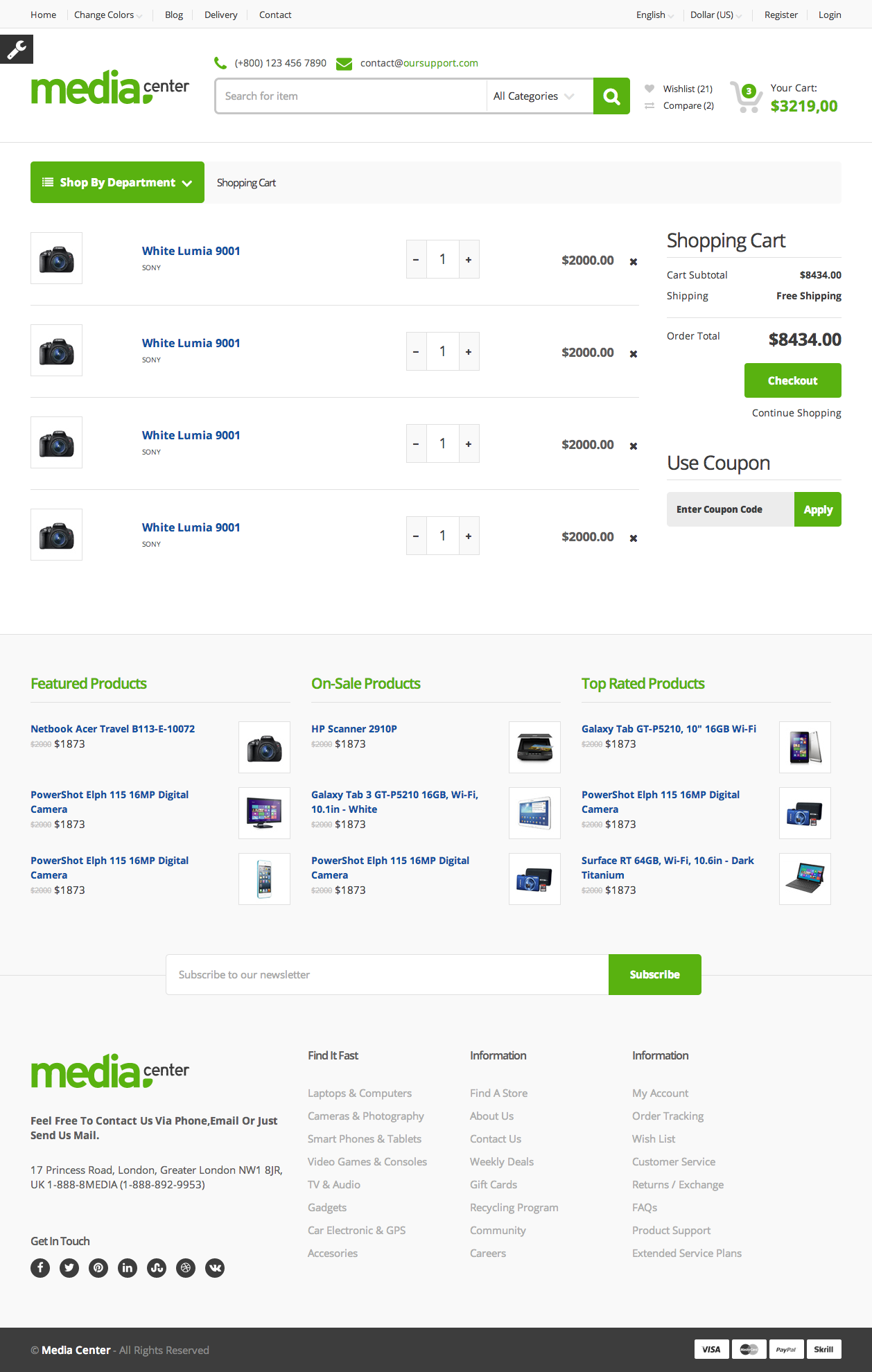 Media Center - Electronic eCommerce HTML Template by shaikrilwan ...