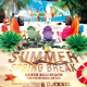 Summer Spring Break Flyer - GraphicRiver Item for Sale