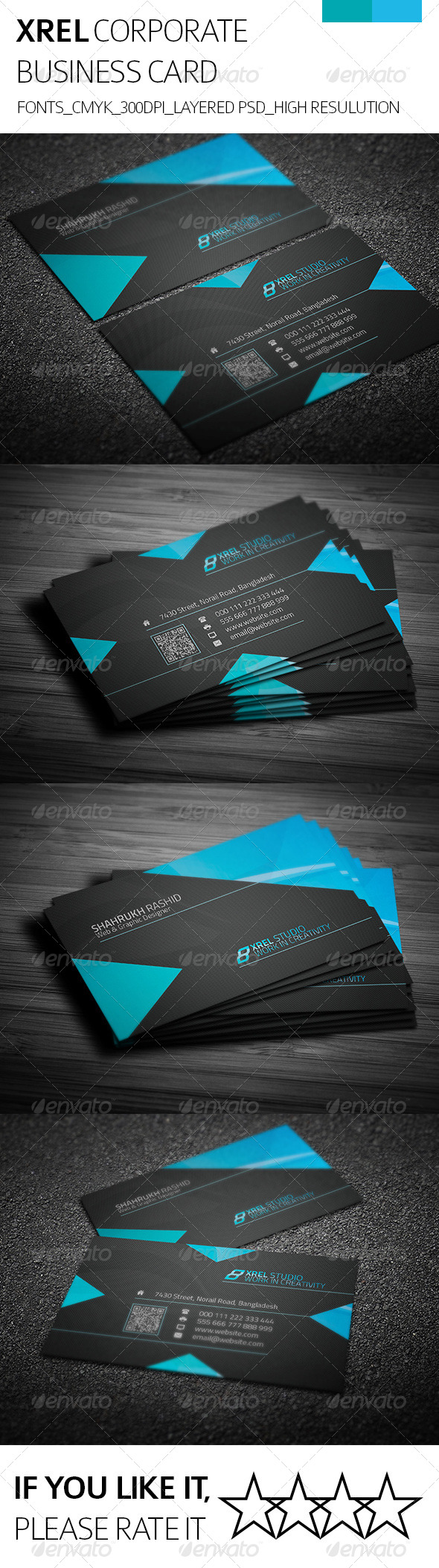 Xrel & Corporate Business Card - Corporate Business Cards