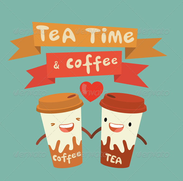 Tea and Coffee, Love Story - Man-made Objects Objects
