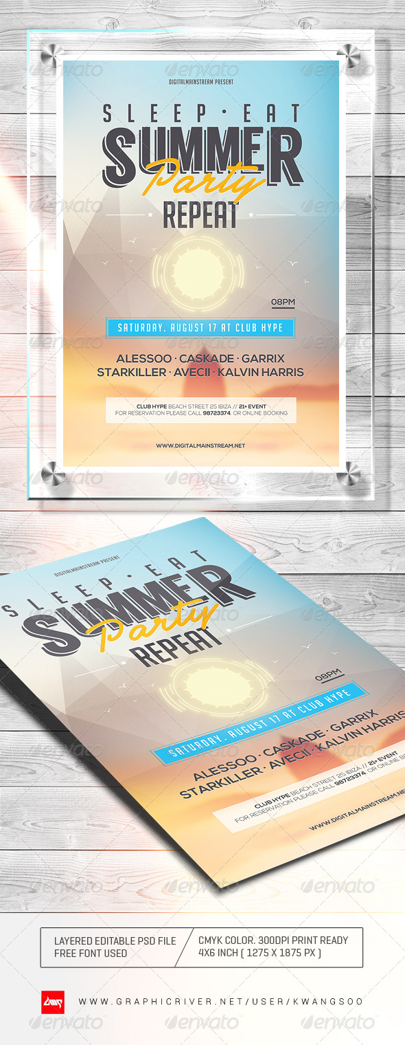 Electro Summer Flyer - Clubs & Parties Events