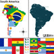 Map of South America - GraphicRiver Item for Sale