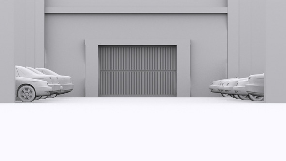 Parking Garage Door Open By Karakos Videohive