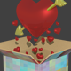 High Poly: Heart with Arrow - 3DOcean Item for Sale