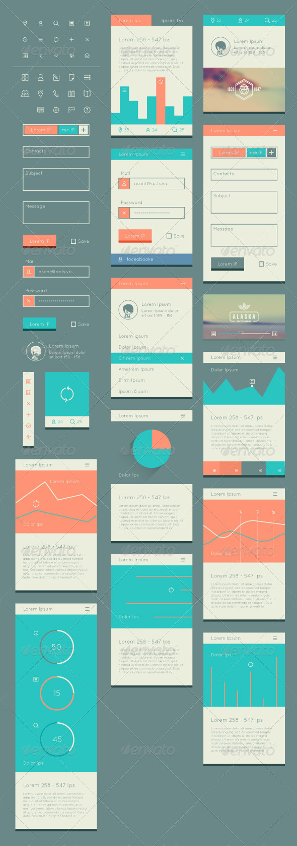 Flat UI Kit for Web and Mobile - Web Technology