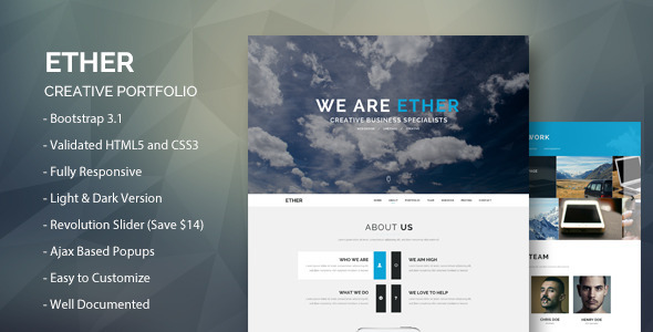 Ether – Creative Buisness Portfolio Template