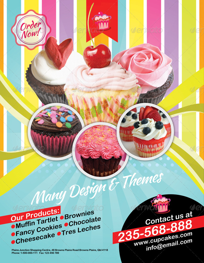 Cupcake Flyer By Bumiputra Graphicriver