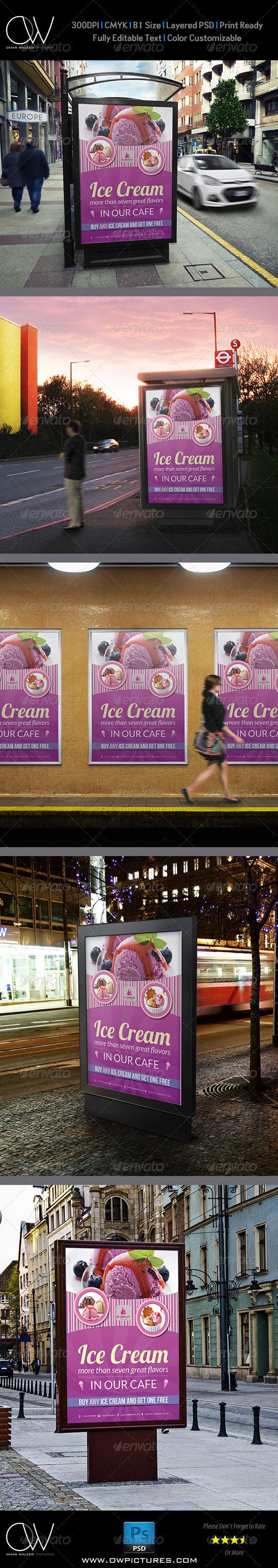 Ice Cream Poster Template Vol.2