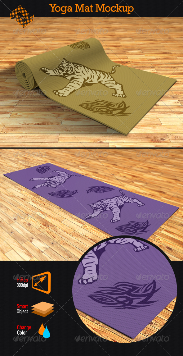 Yoga Mat Mockup by Fusionhorn | GraphicRiver