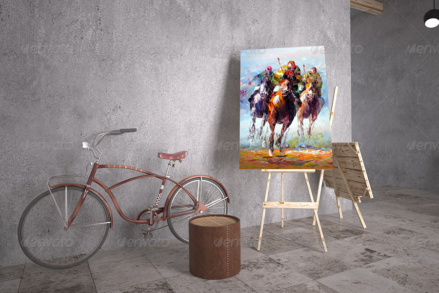 Painting Gallery Mockup By Sherlockholmes Graphicriver