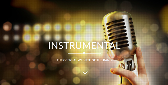 Instrumental - Band / Events Muse Template - Creative Muse Templates