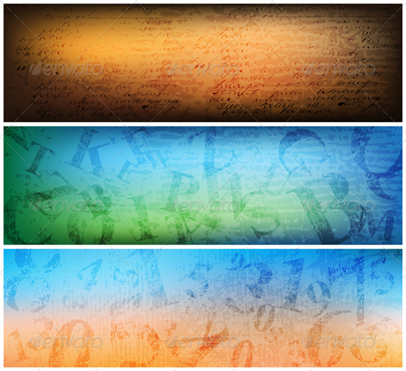 Set of Banners - Backgrounds Decorative