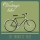 Vintage Card with Black Bicycle in Retro Style - GraphicRiver Item for Sale