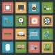 Computer Peripherals and Parts Flat Icons Set - GraphicRiver Item for Sale