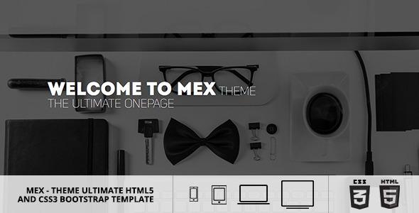MEX Minimal Multipurpose Theme - Creative Site Templates
