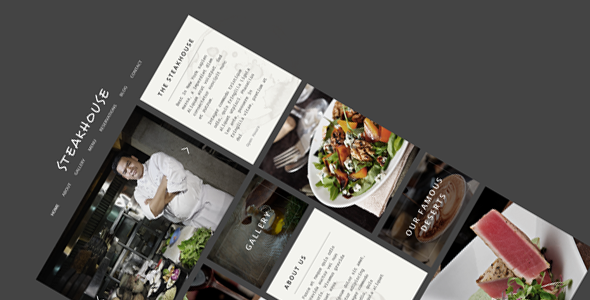 Steakhouse - Responsive Retina WP Restaurant - Business Corporate