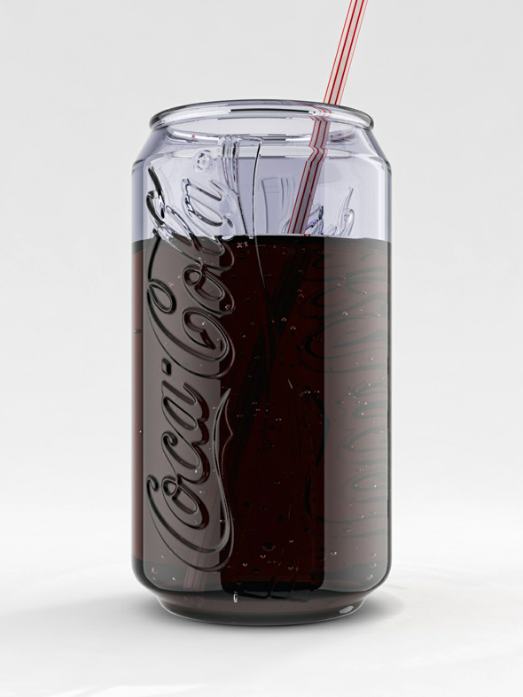 Coca Cola Can Glass - 3DOcean Item for Sale