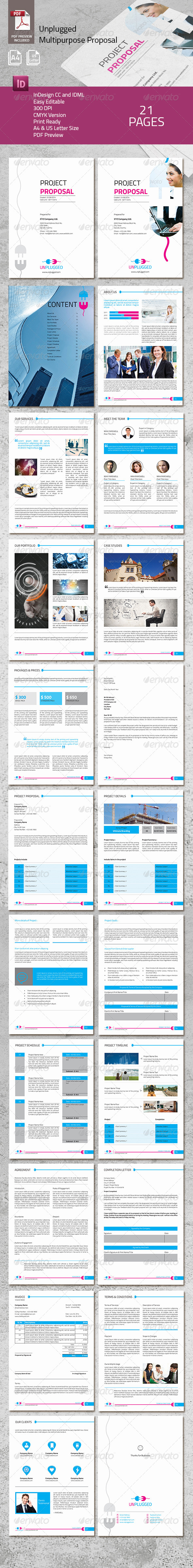 Unplugged Multipurpose Proposal - Proposals & Invoices Stationery