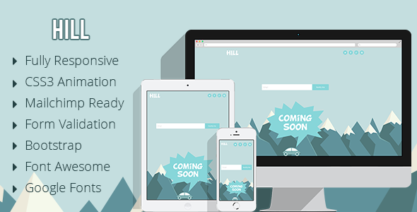 Hill – Animated Coming Soon Responsive Template
