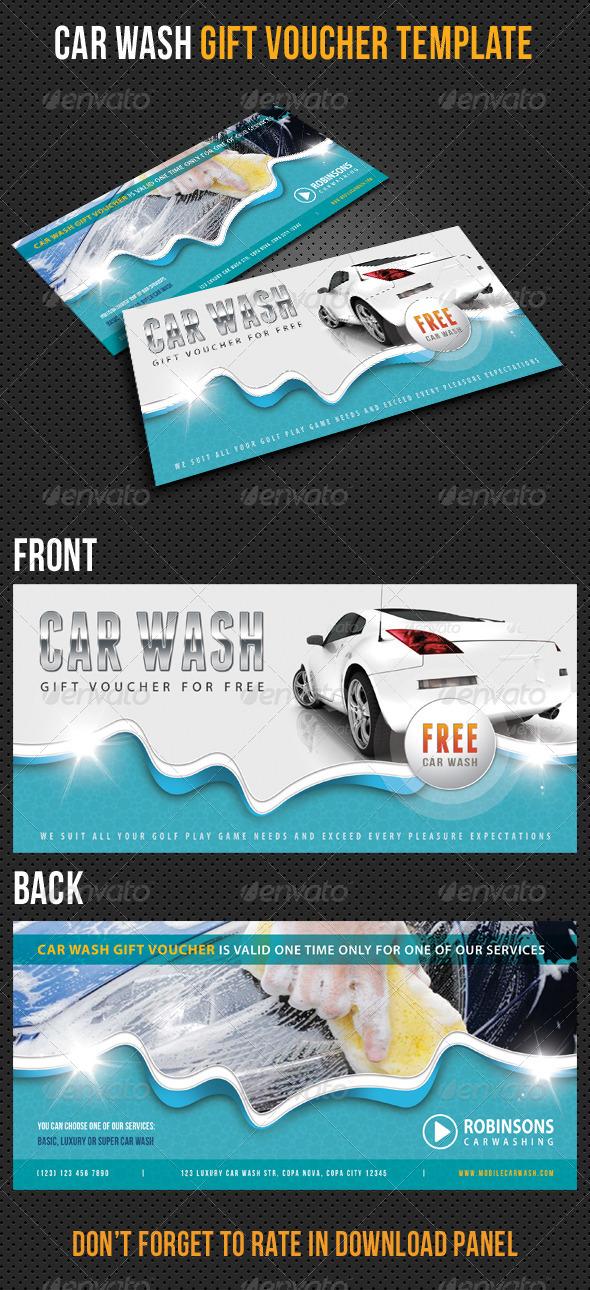 car wash gift voucher v12 by rapidgraf graphicriver. Black Bedroom Furniture Sets. Home Design Ideas