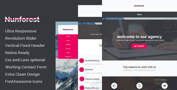 Nunforest – Multipurpose html template