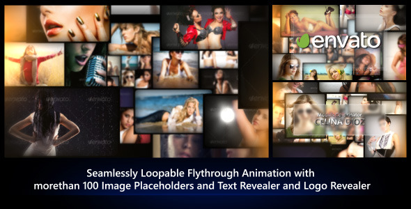 Videohive Photos Galaxy - Loopable Flythrough Animation 8192453