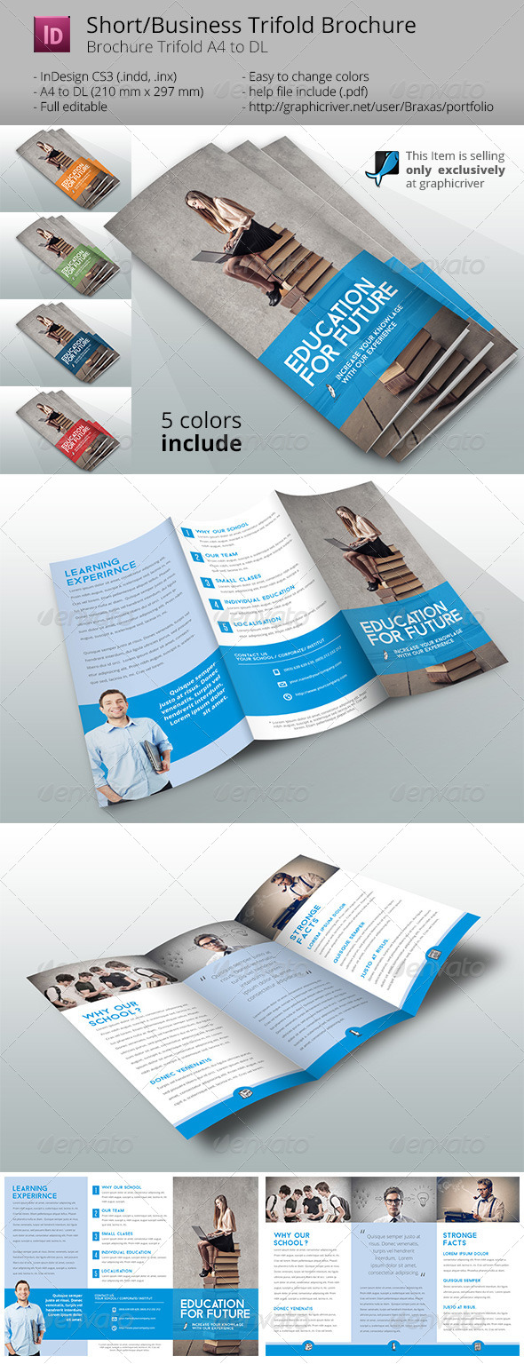school brochure template informational brochures
