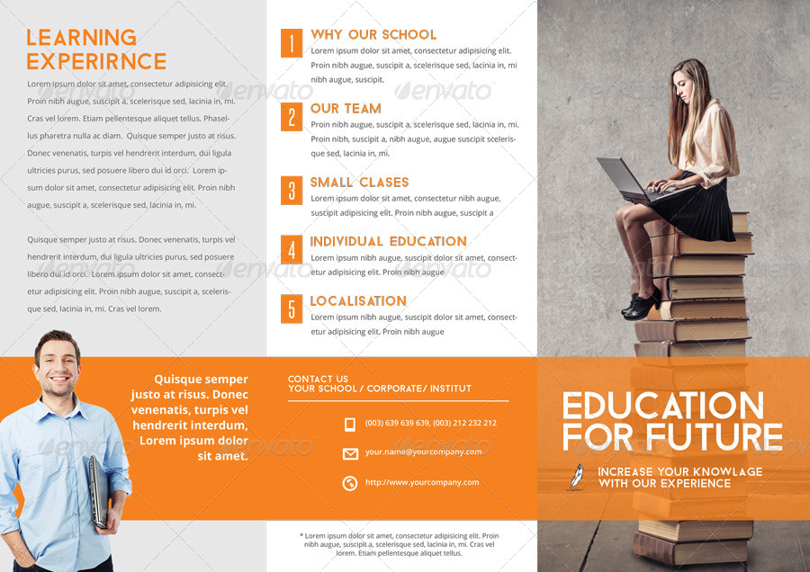 School Brochure Template By Braxas GraphicRiver - School brochure templates