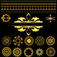 Collection of gold borders and ornaments - GraphicRiver Item for Sale