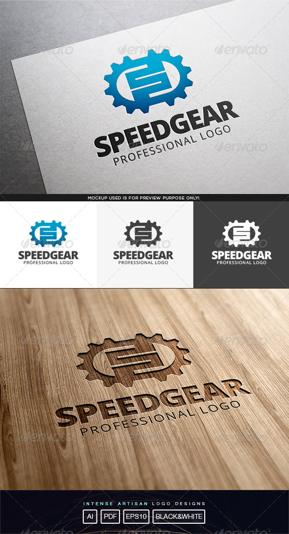 Speed Gear Logo Template