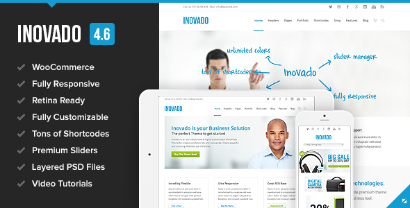 Inovado - Retina Responsive Multi-Purpose Theme - Corporate WordPress