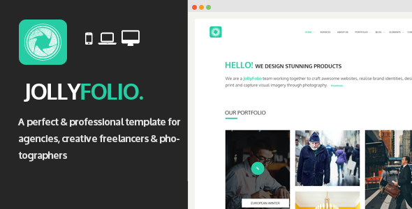 Jollyfolio - Agency & Freelance Portfolio Template - Portfolio Creative