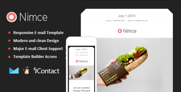 Nimce - Responsive Email + Themebuilder Access  - Email Templates Marketing