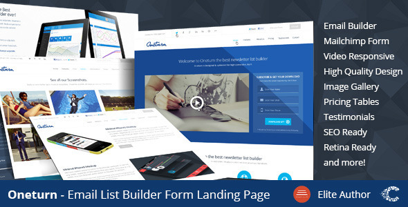 Oneturn – Marketing List Builder Landing Page
