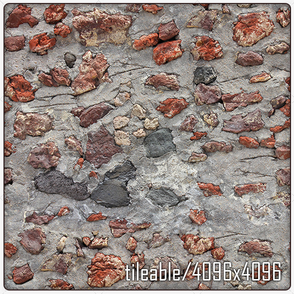 OiaStoneWall Tile 01 Light - 3DOcean Item for Sale