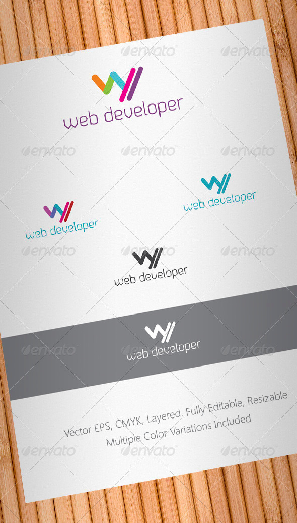 Web Developer Logo Template - Letters Logo Templates