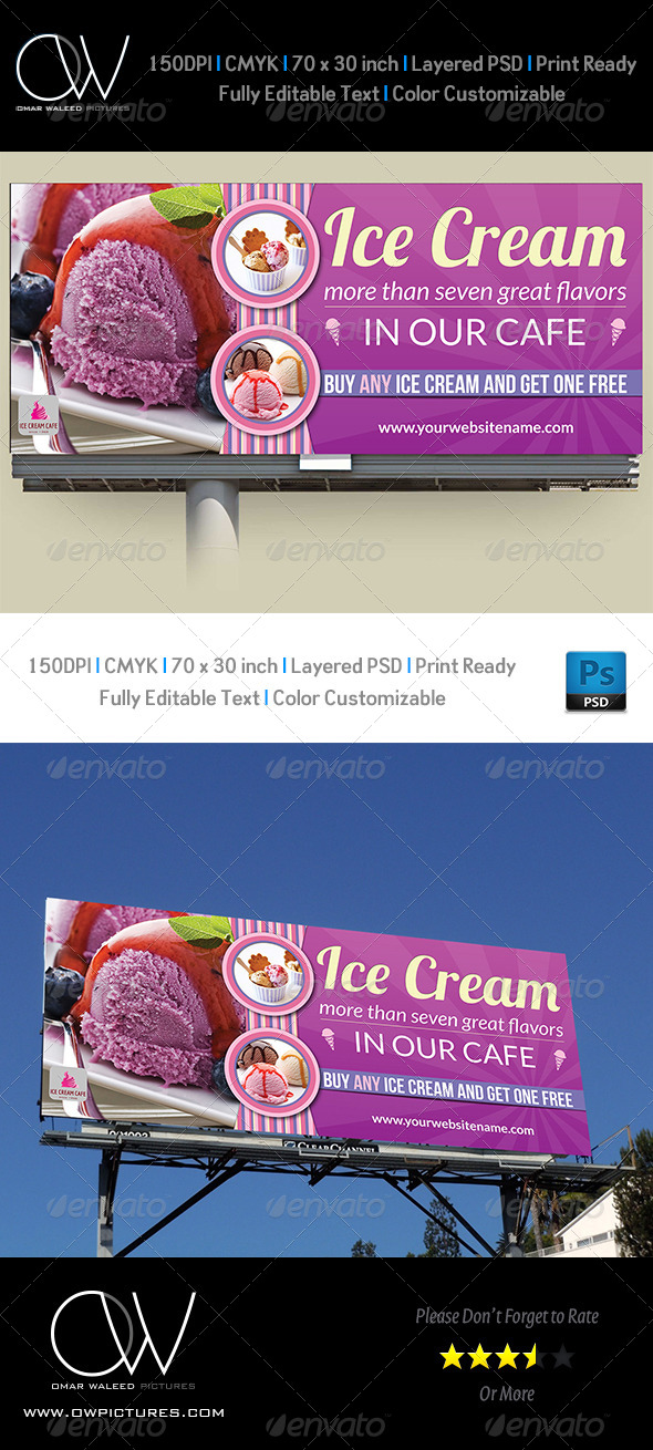 Ice Cream Billboard Template Vol.2