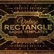 Rectangle Vintage Badges v.1 - GraphicRiver Item for Sale