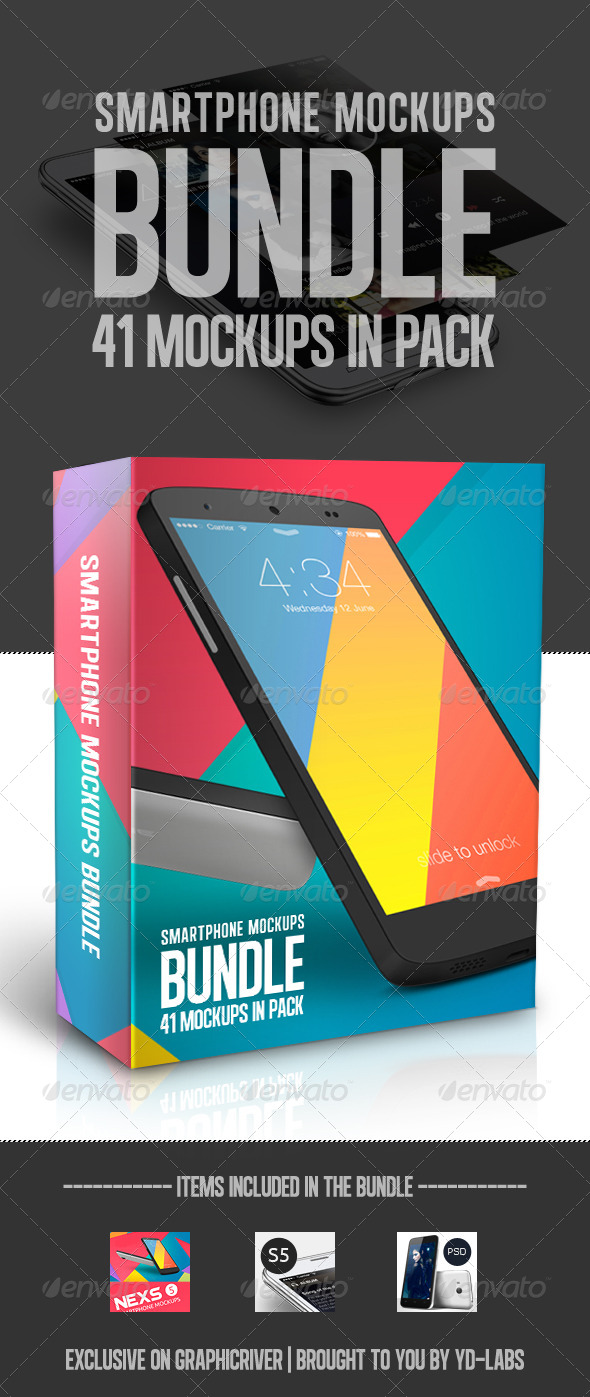 Smartphone Mockups Bundle