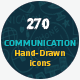 270 Hand Drawn Communication Icons - GraphicRiver Item for Sale